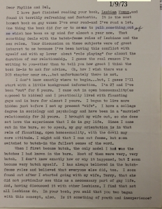 1. Butch, Trans letter to Del and Phyllis on how to be straight-acting_5409
