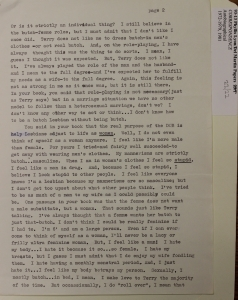 2. Butch, Trans letter to Del and Phyllis on how to be straight-acting_5410