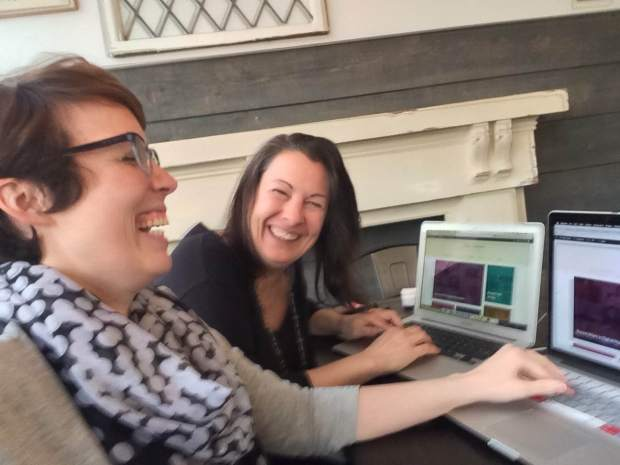 Elise and Laura Elgin are Insanely Happy about Launching a Web Site